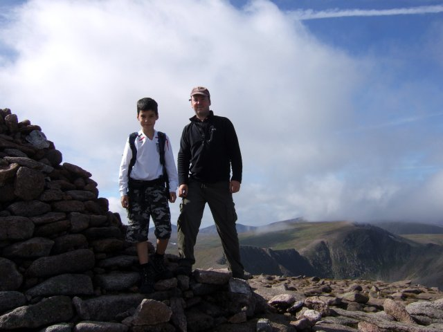 Pete and Josh on Cairngorm