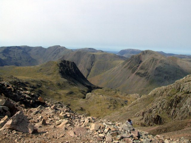 Scafell Pike summit view