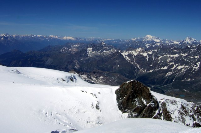 Mont Blanc from the Breithorn