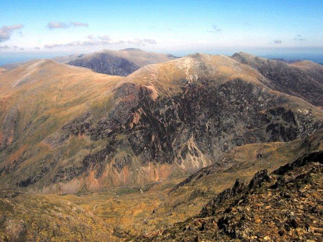 Glyderau and Pass of Llanberis