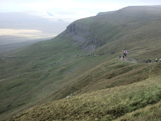 walkers descending Penyghent