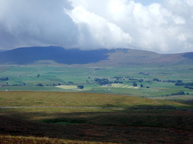 Ingleborough across Ribblesdale