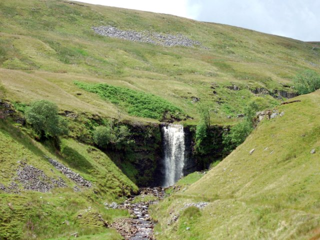 waterfall on the way to Whernside