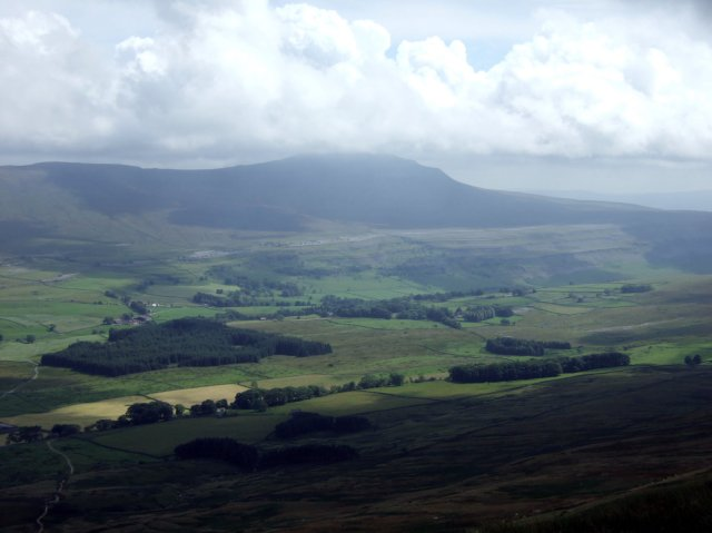 Ingleborough seen from Whernside