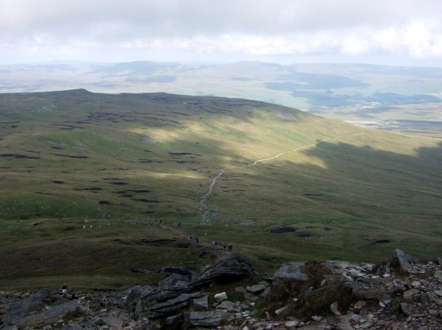 Looking onwards from Ingleborough