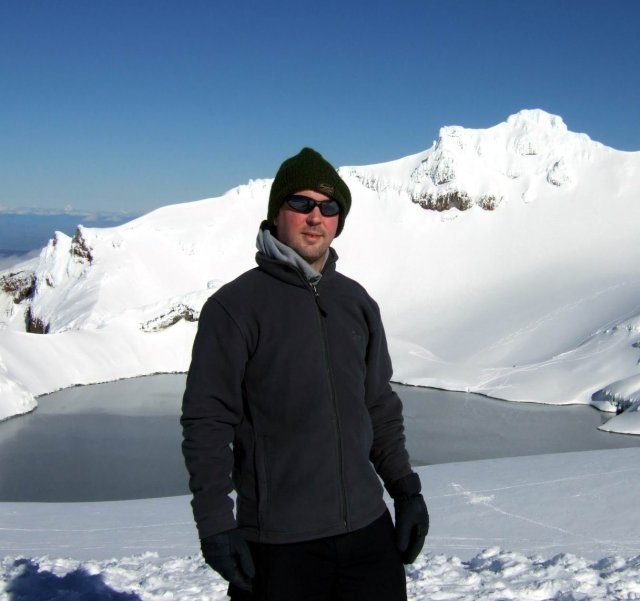 Pete with the Crater Lake