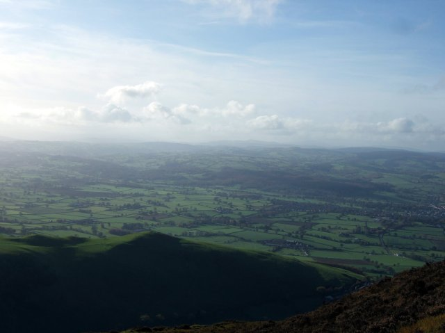 View west from Foel Fenlli