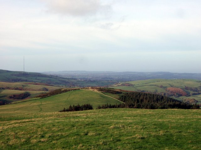Looking towards Moel y Parc