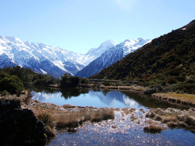 Mount Cook from Red Tarns