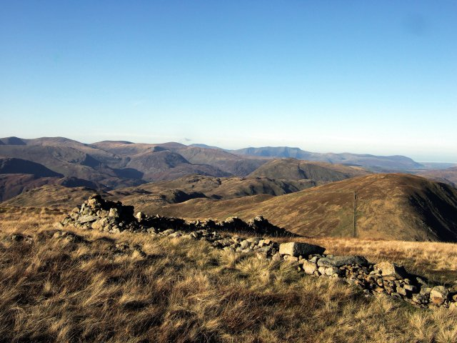 The Helvellyn Range to Blencathra