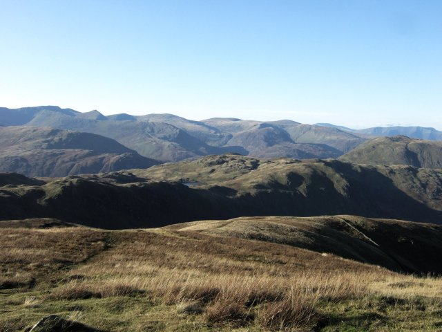 Helvellyn and the Easten Fells from Rest Dodd