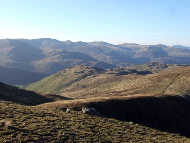 Approaching Rampsgill Head on the High Street Ridge