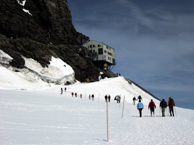 The Monchsjoch Hut 12000 feet above sea level
