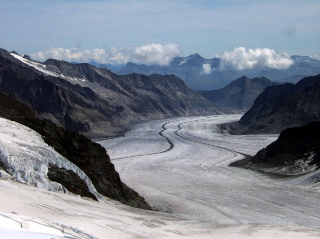 The Aletsch Glacier from the Monchsjoch Trail