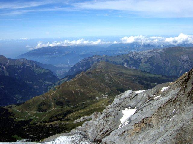Kleine Scheidegg from jungfraujoch Ice Plateau