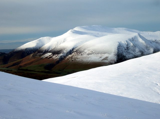 A winter view of Skiddaw from Great Dodd