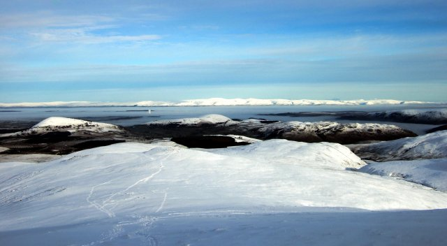 The eastern panorama from the summit
