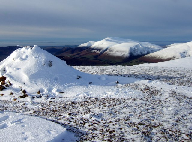 Skiddaw from the top of Great Dodd