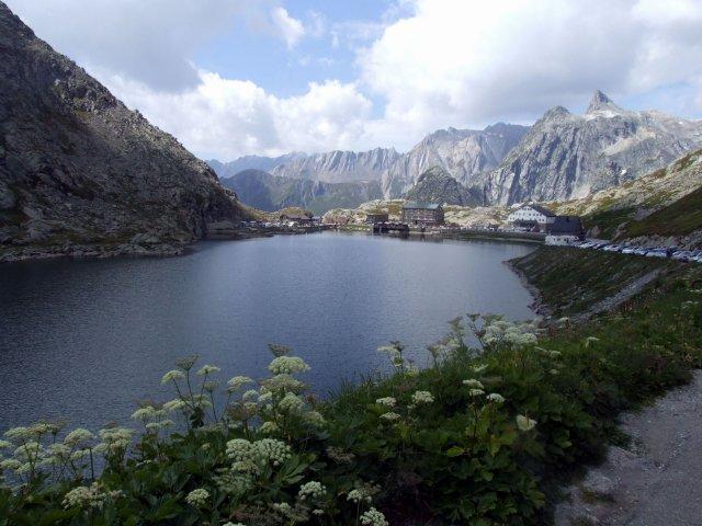 Lake at the pass summit