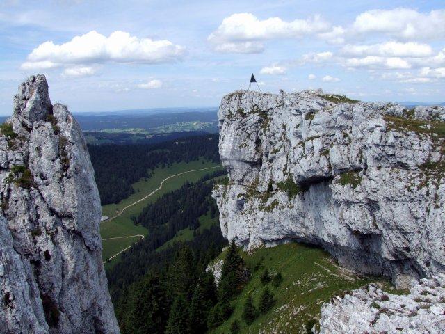 limestone rock formations of Chasseron