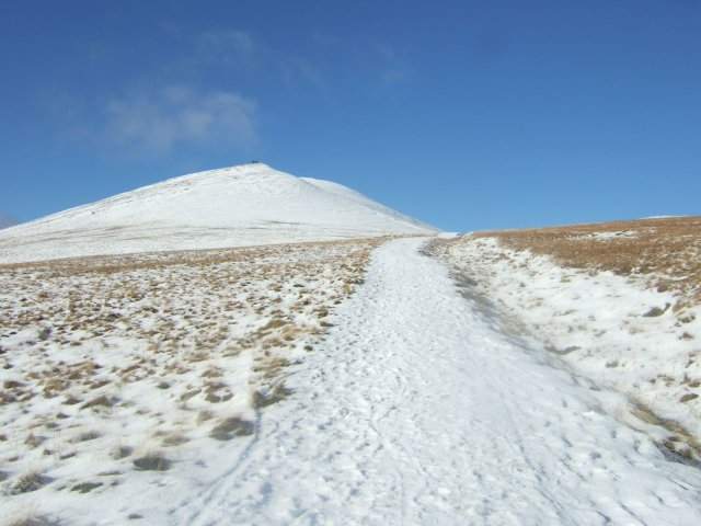 Skiddaw in snow