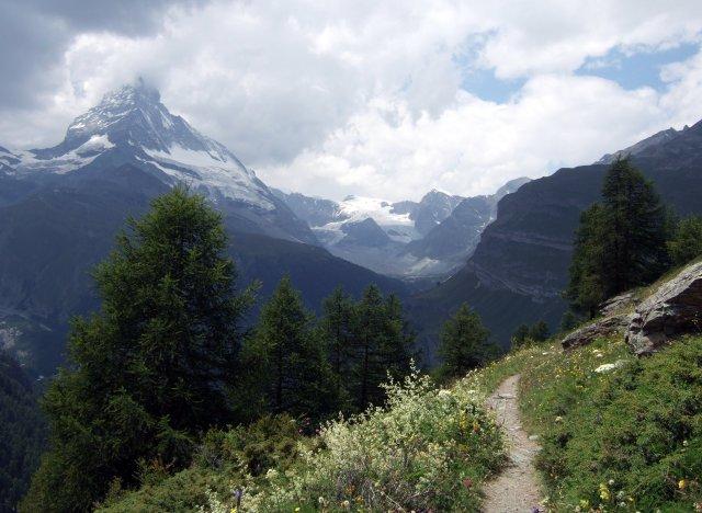 The Matterhorn in cloud