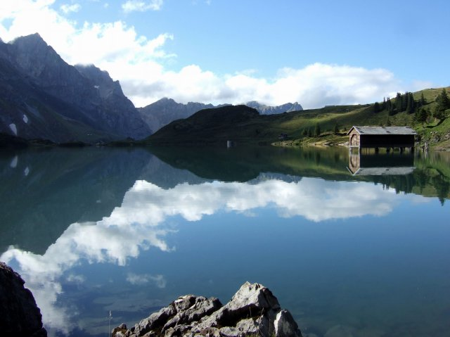 Alpine lake above engelberg