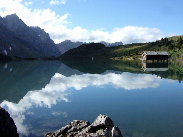 Alpine lake above engelberg