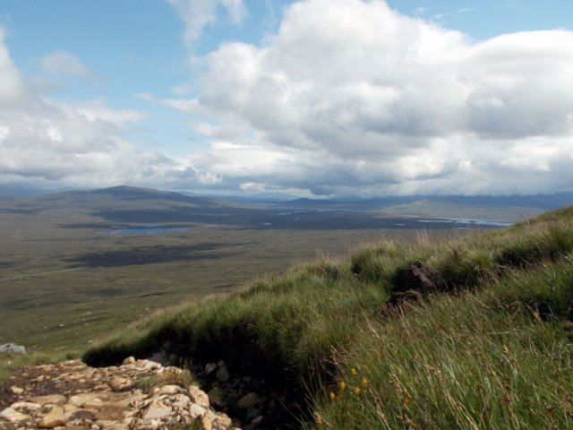 view of rannoch moor from the blackmount