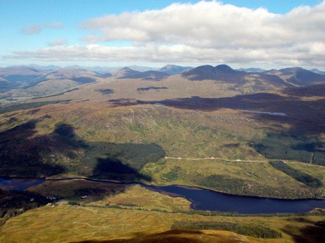 crianlarich hills from ben more