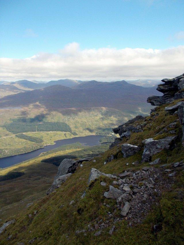 just below the summit of ben more