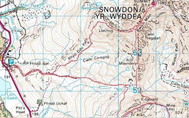 Snowdon Map