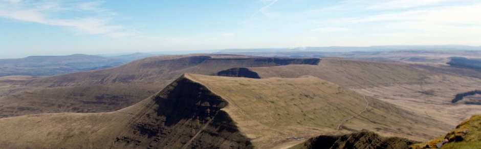 view from pen y fan wales