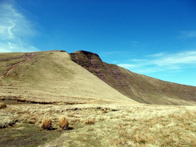 Pen y Fan from the col