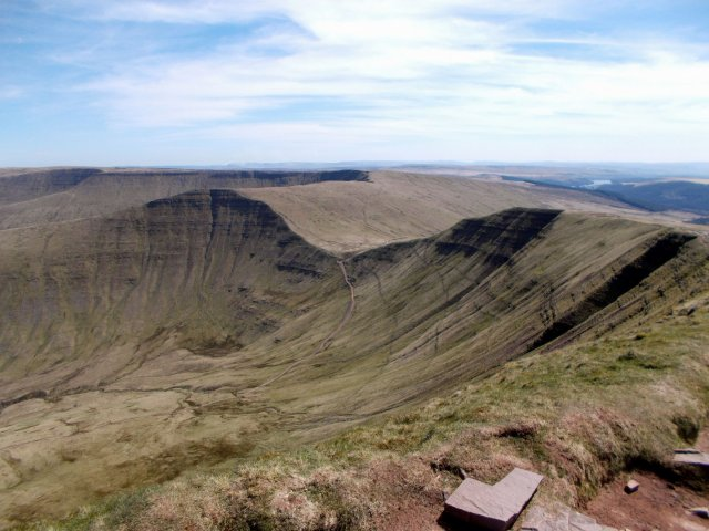 Waun Rydd and Fan y Big from Cribyn.