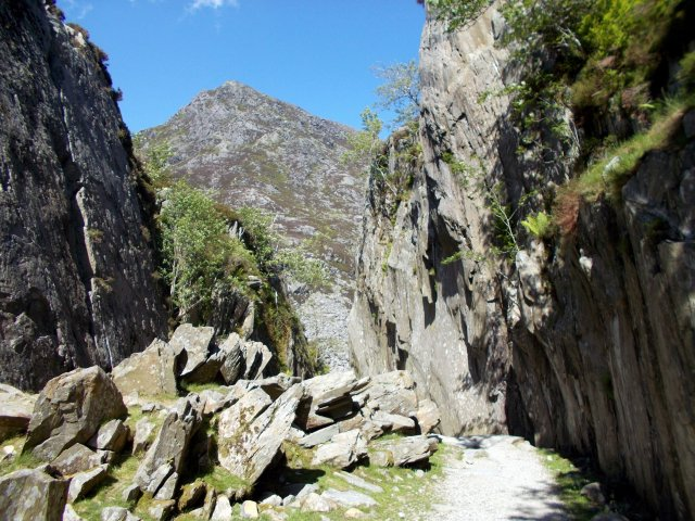 rock scenery of the ogwen valley in snowdonia national park