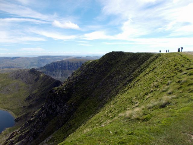 walkers on helvellyn
