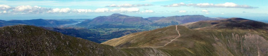 northward panorama from helvellyn
