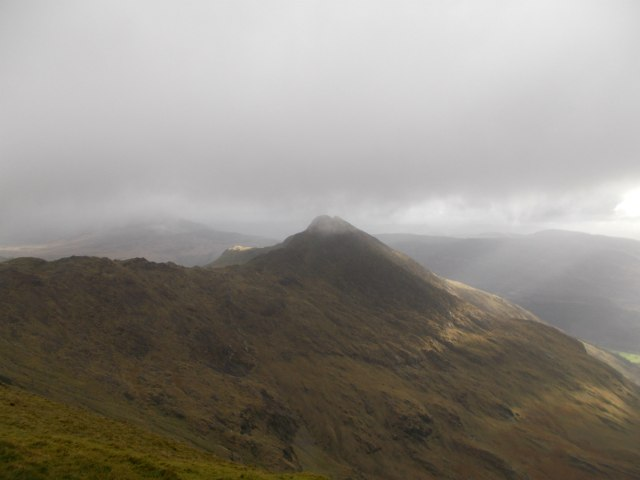 Lliwedd on the snowdon horsshoe