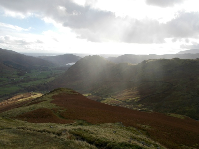 Grasmere and Helm Crag from Steel Fell