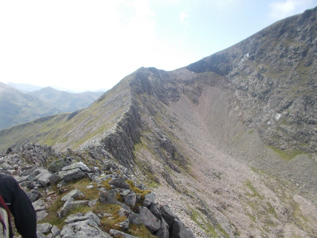 crossing the carn mor dearg arete