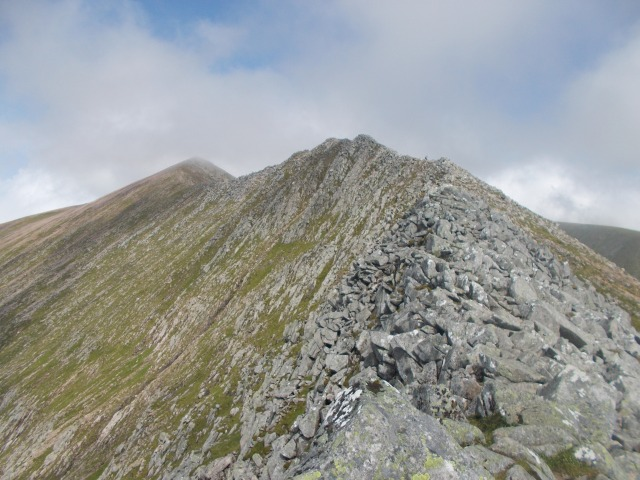 Carn Mor Dearg from the arete